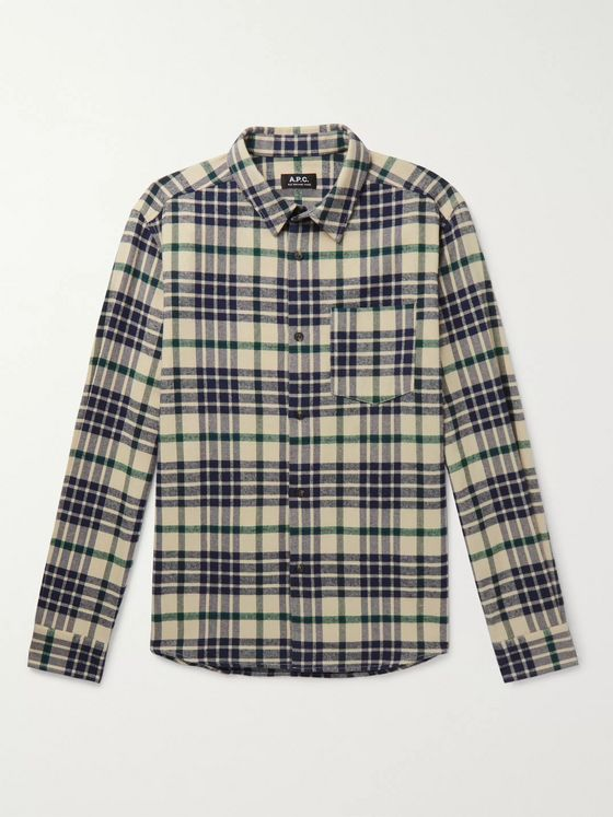 A.P.C. John Checked Flannel Shirt