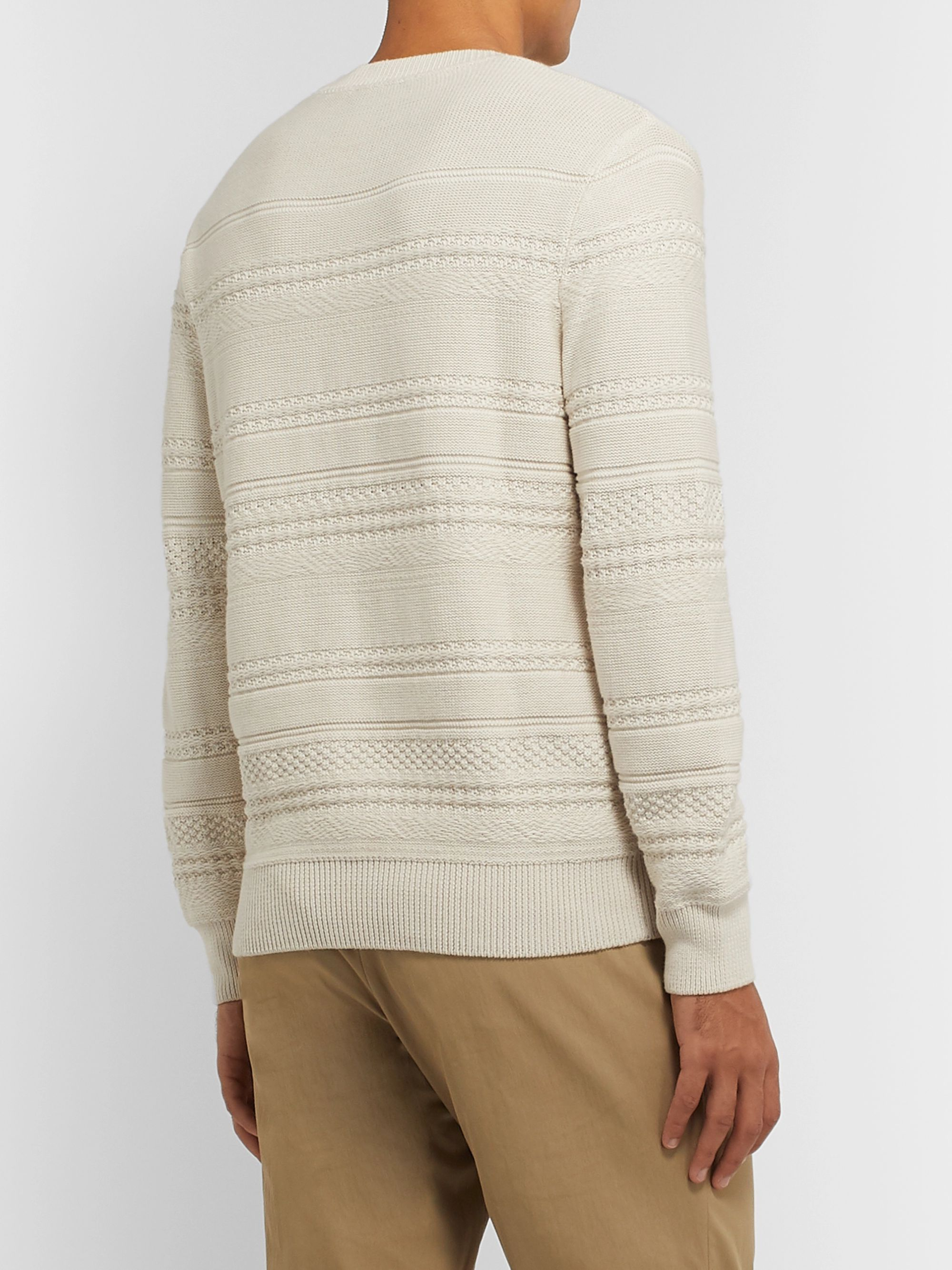 A.P.C. Nicolas Cable-Knit Cotton Sweater