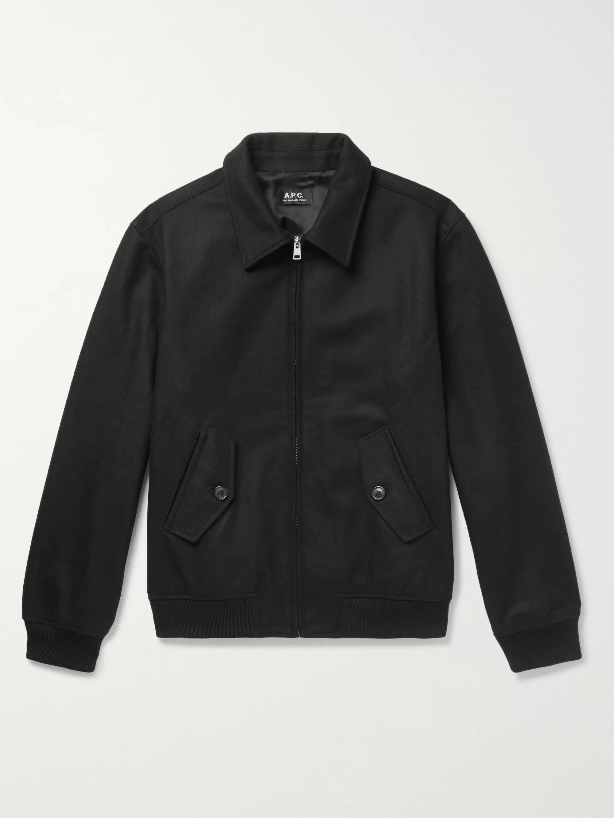 A.P.C. Gaspard Wool-Blend Bomber Jacket