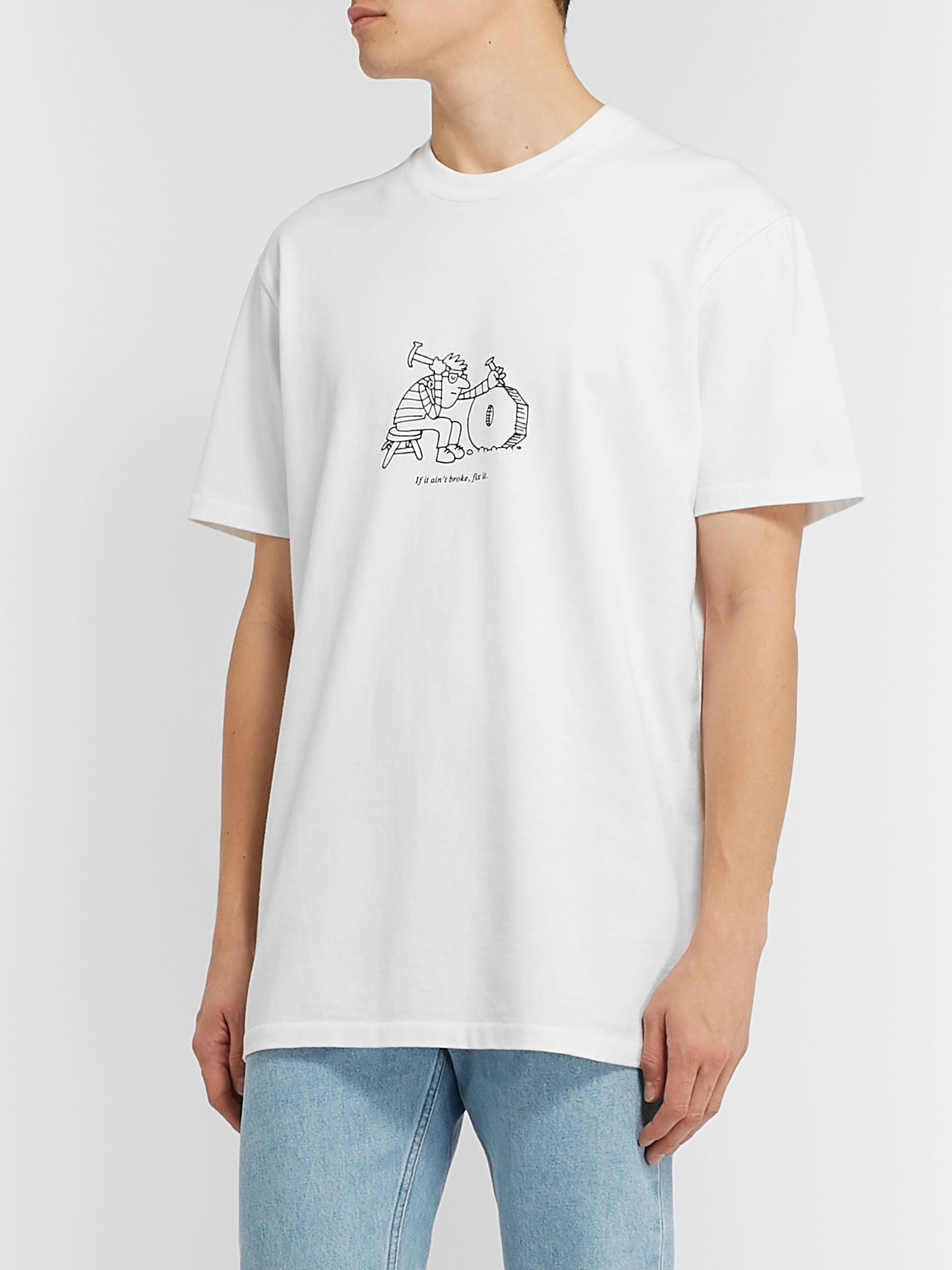 A.P.C. + JJJJound Logo-Print Cotton-Jersey T-Shirt