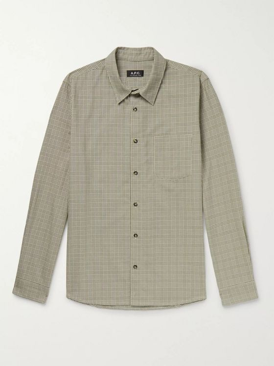 A.P.C. Vico Prince of Wales Checked Cotton Shirt