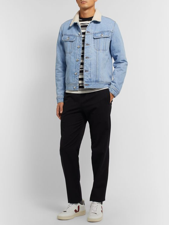 A.P.C. Julien Faux Shearling-Lined Denim Jacket