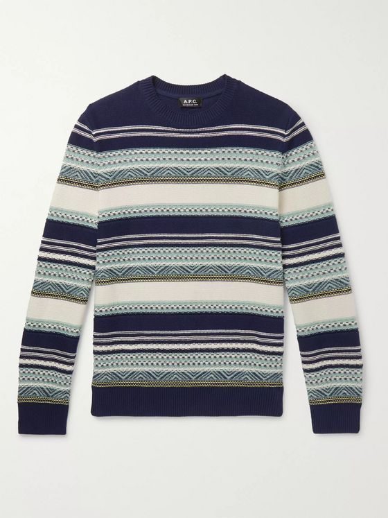 A.P.C. Maxence Fair Isle Cotton Sweater