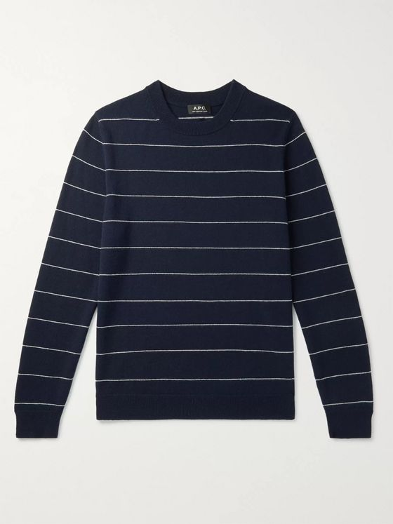 A.P.C. Ambrose Striped Cashmere Sweater