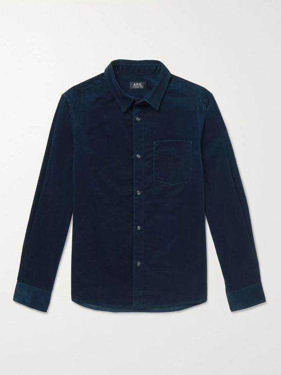 A.P.C. John Cotton-Velvet Shirt