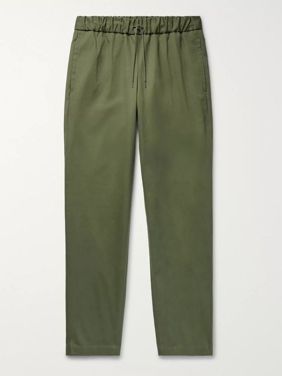 A.P.C. Kaplan Cotton-Gabardine Drawstring Trousers