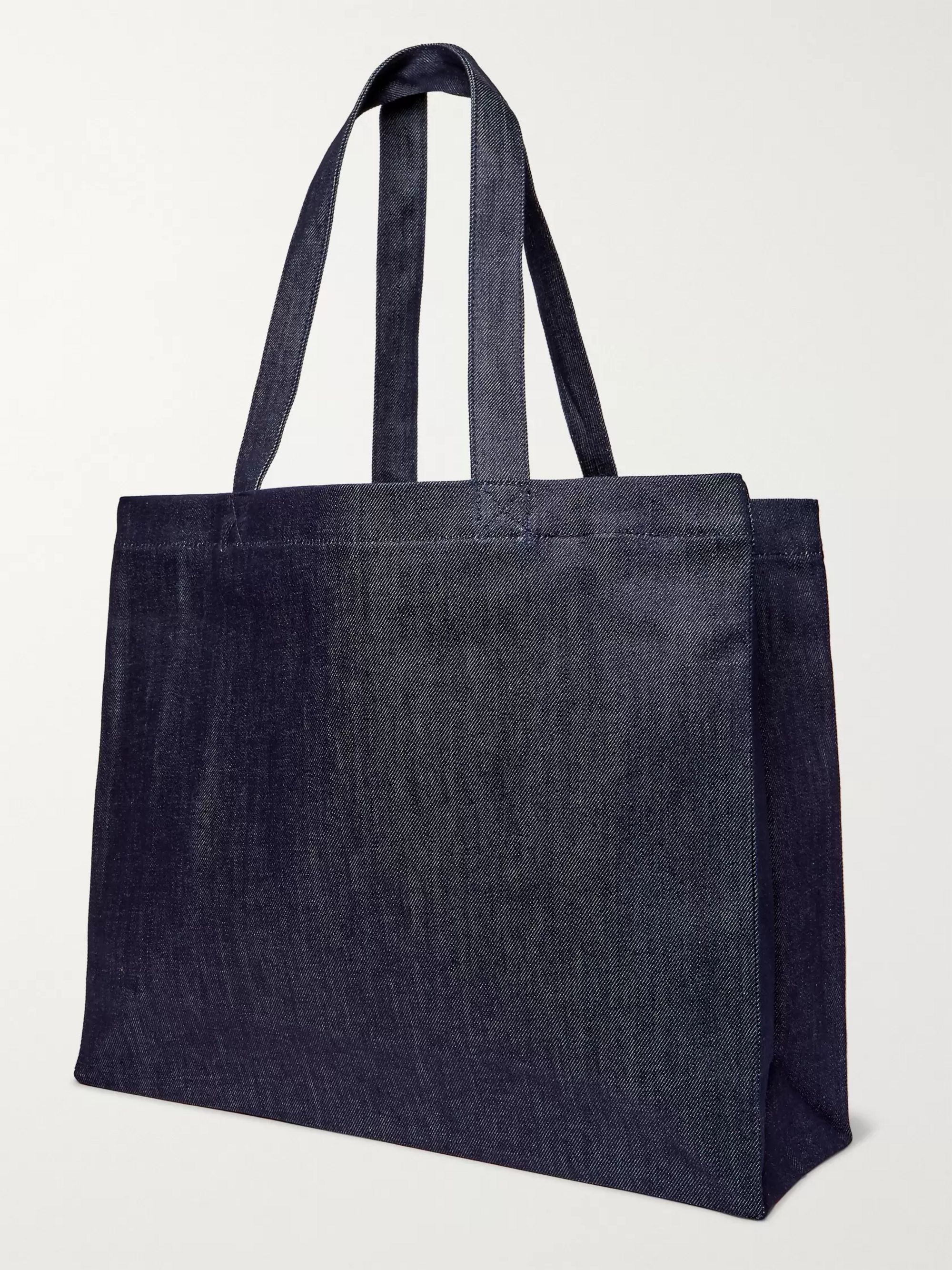A.P.C. + JJJJound Logo-Print Denim Tote Bag