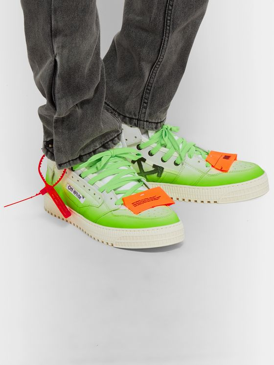 Off-White Off-Court Dégradé Leather and Canvas Sneakers