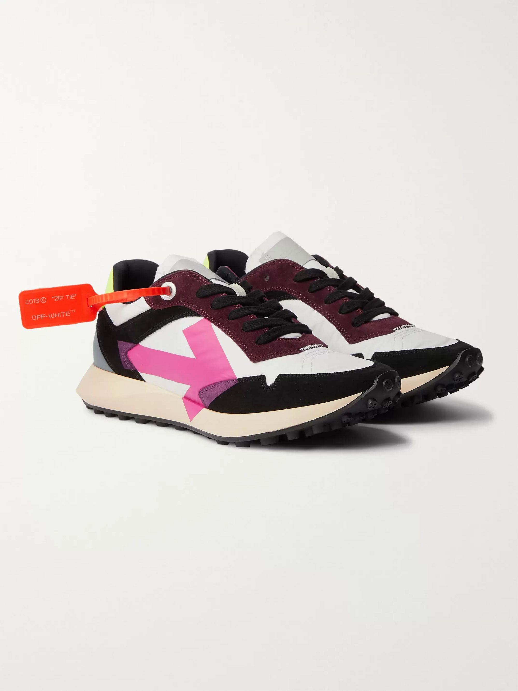 Off-White Everyday Logo-Print Suede and Shell Sneakers
