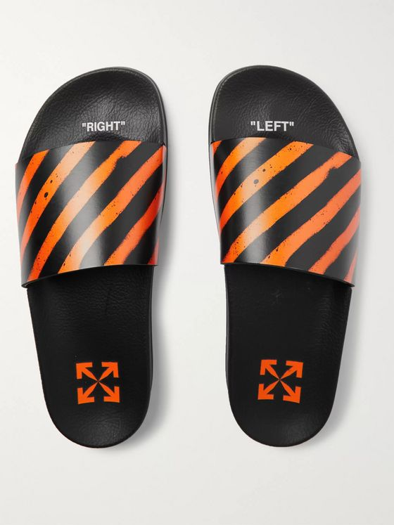 Off-White Striped Rubber Slides