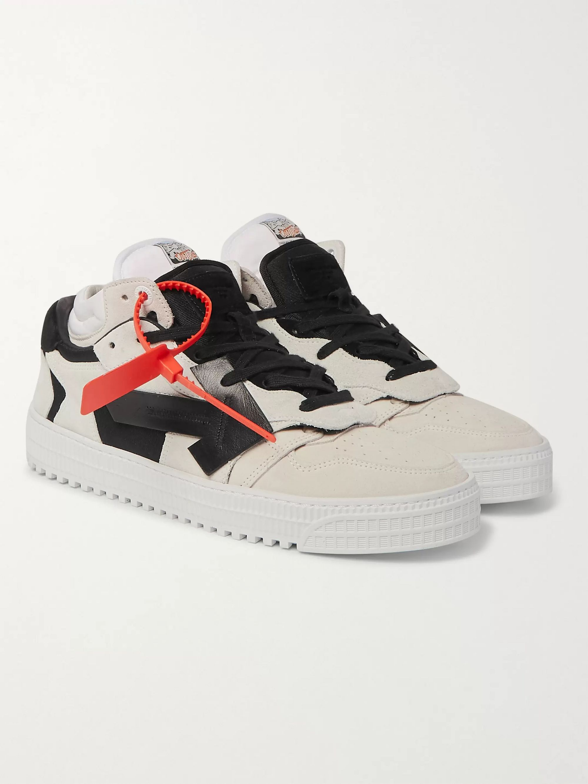 Off-White Off-Court Suede and Leather Sneakers