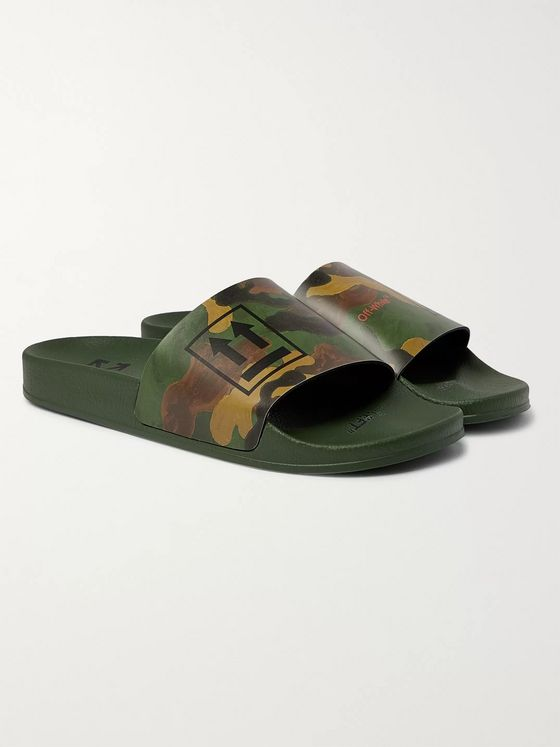 Off-White Camouflage-Print Rubber Slides
