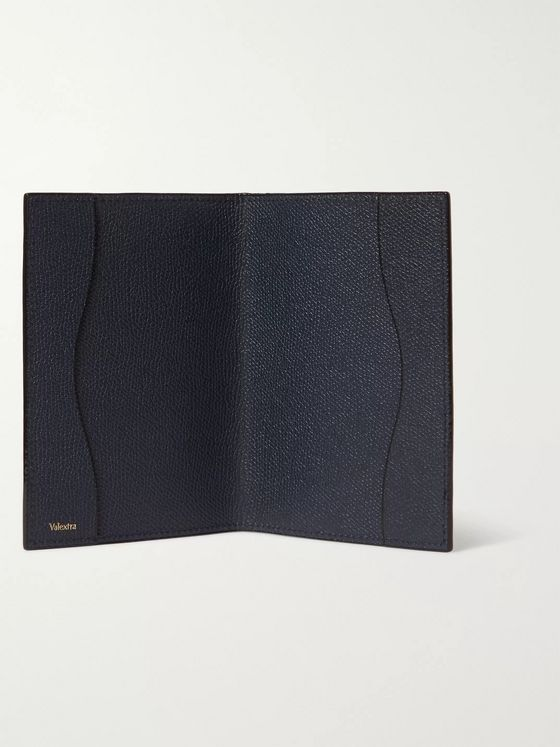 Valextra Full-Grain Leather Passport Cover
