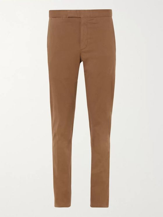 Ermenegildo Zegna Slim-Fit Cotton-Blend Drill Trousers