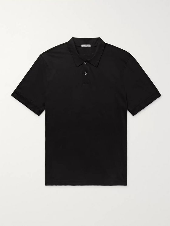 James Perse Cotton and Cashmere-Blend Polo Shirt