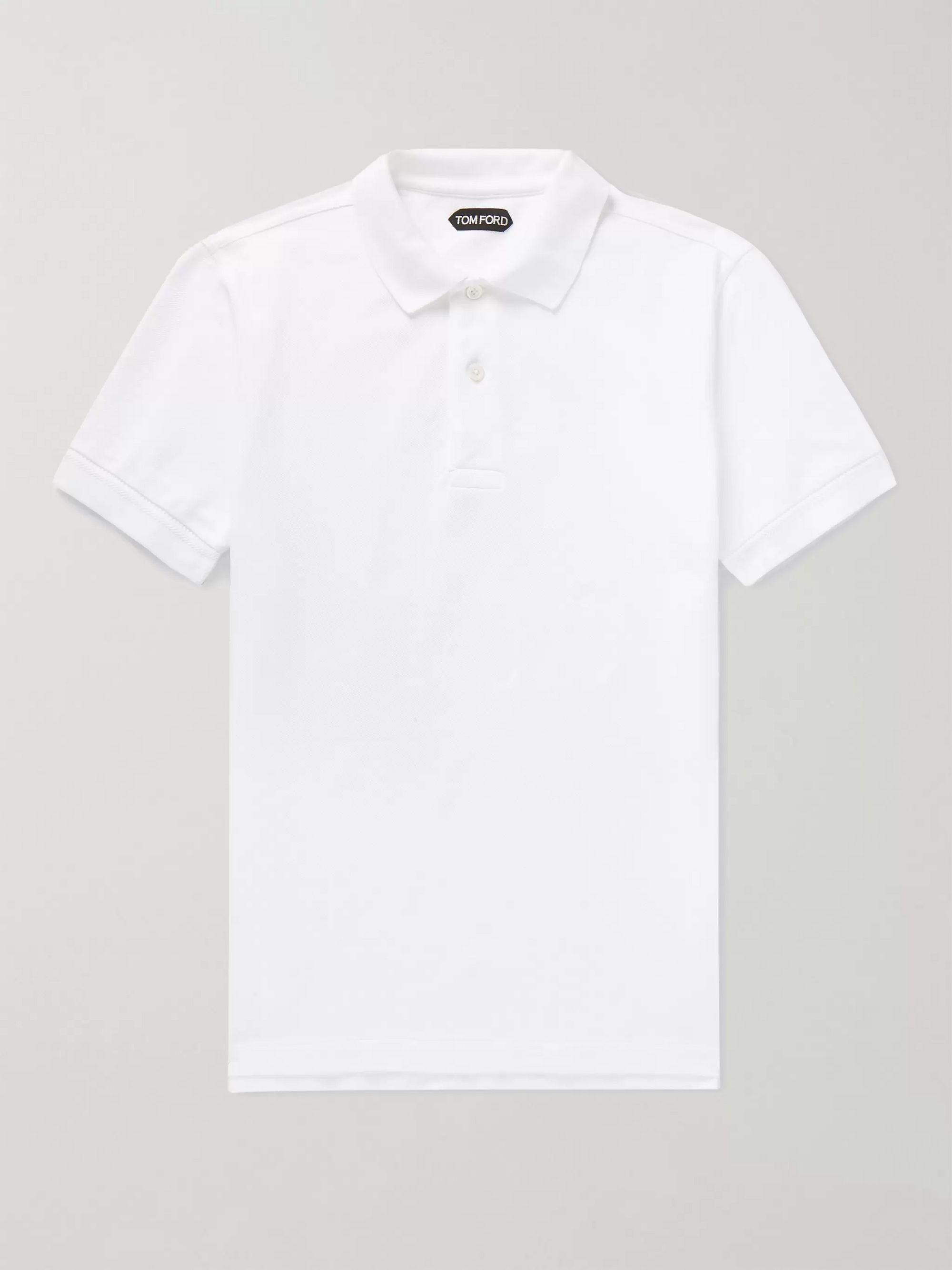 Tom Ford Polo Poloshirt Men/'s 54 white Cotton   Piqué