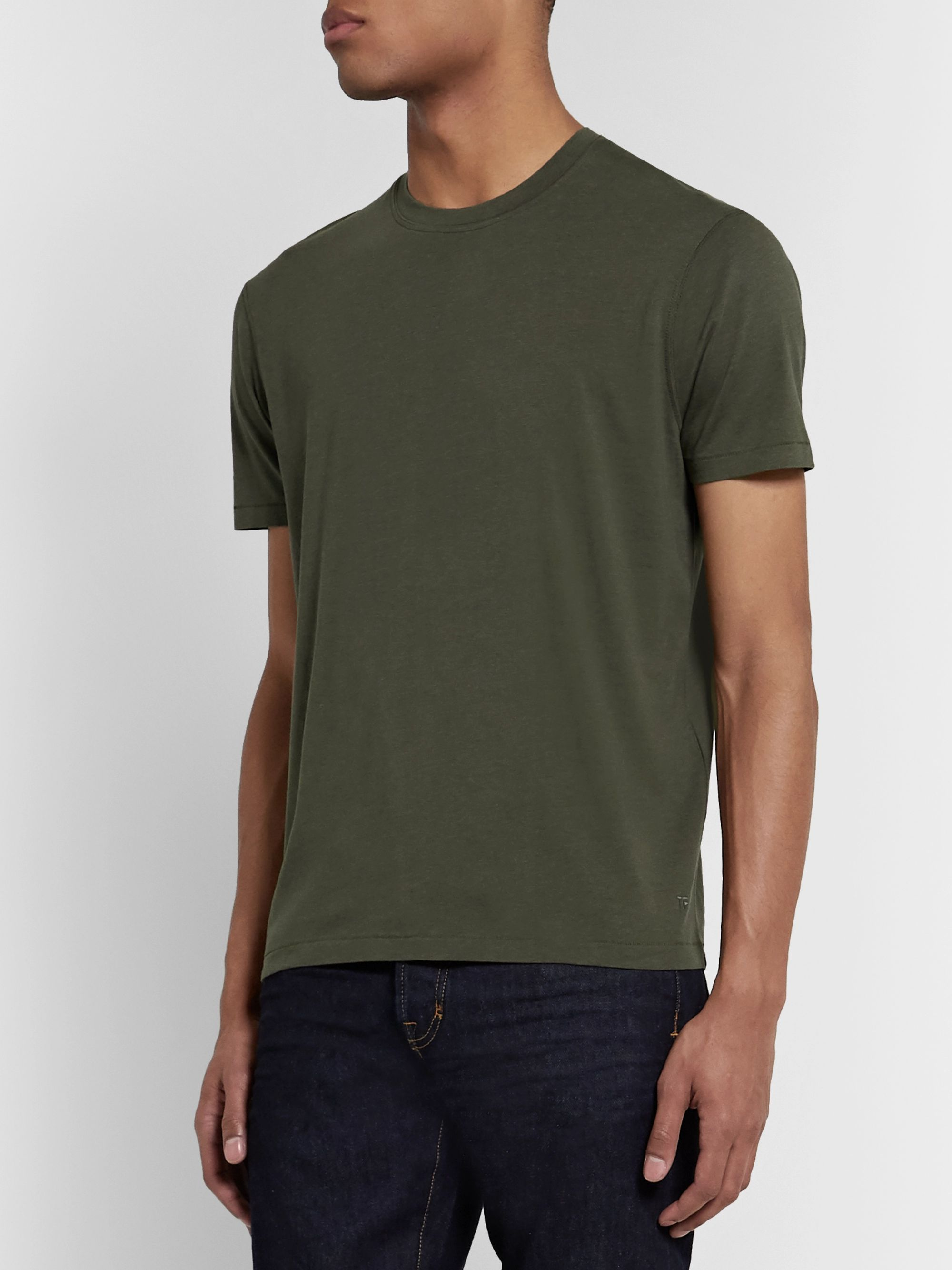 TOM FORD Slim-Fit Lyocell and Cotton-Blend Jersey T-Shirt