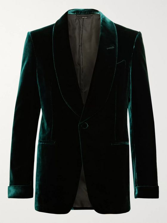 TOM FORD Emerald Slim-Fit Shawl-Collar Velvet Tuxedo Jacket