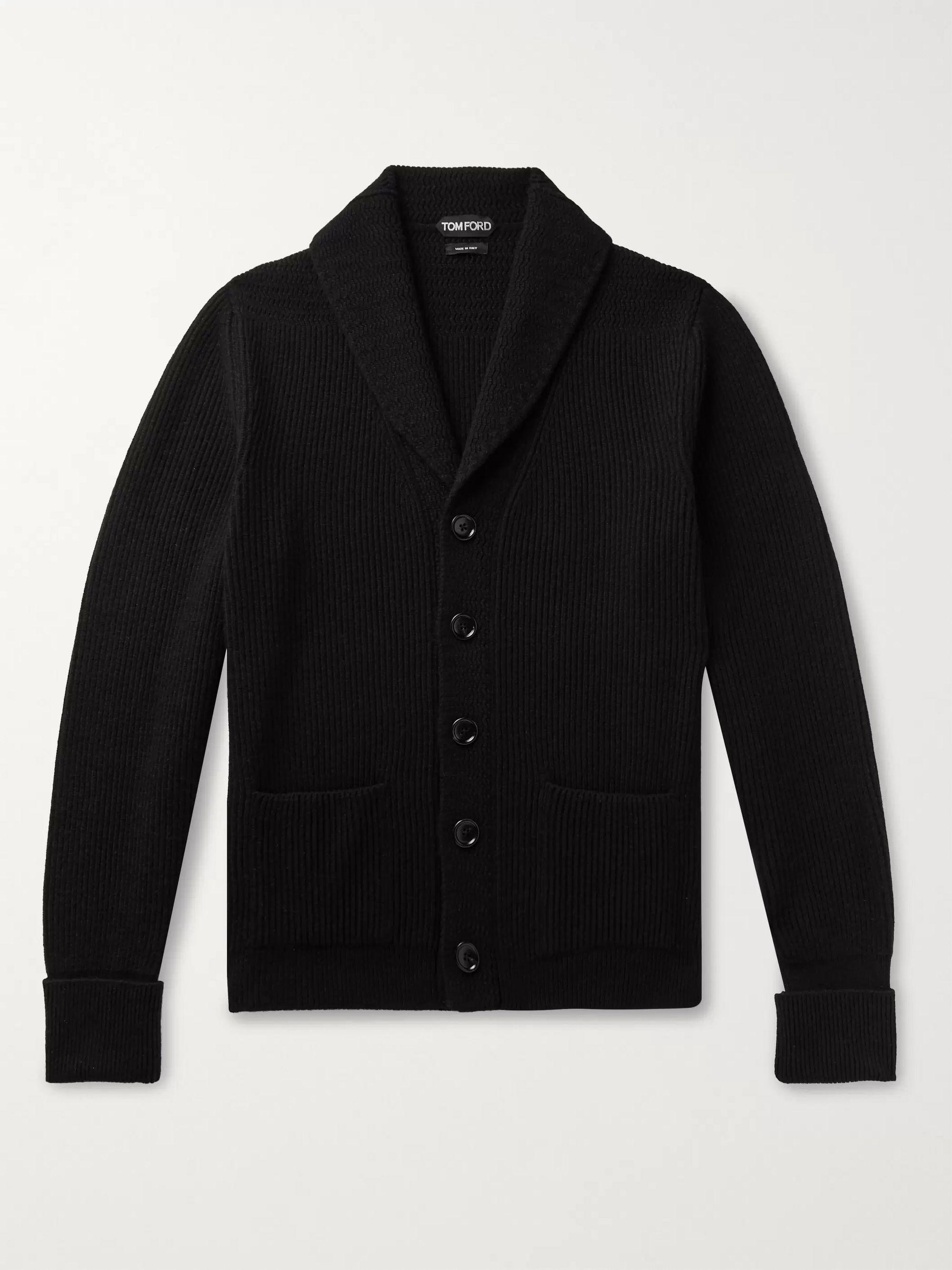Black Slim Fit Shawl Collar Cashmere Cardigan Tom Ford Mr Porter