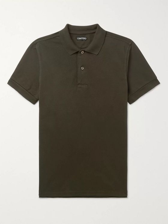 TOM FORD Slim-Fit Cotton-Piqué Polo Shirt