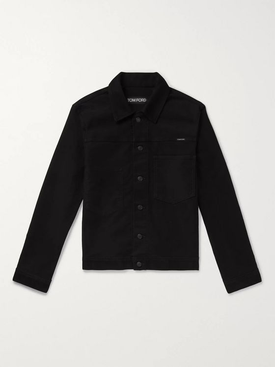 TOM FORD Slim-Fit Washed-Denim Trucker Jacket