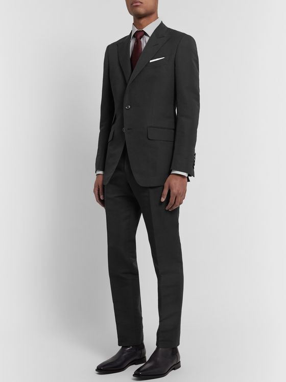 TOM FORD Black O'Connor Slim-Fit Cotton and Silk-Blend Suit Trousers