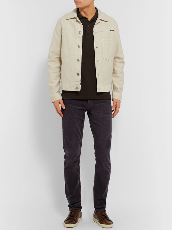TOM FORD Slim-Fit Cotton-Blend Corduroy Trousers