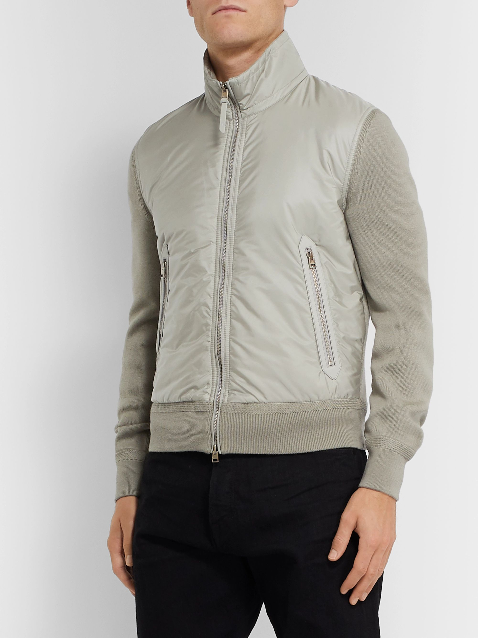 TOM FORD Slim-Fit Merino Wool and Padded Nylon Jacket