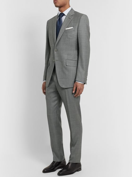 TOM FORD Grey O'Connor Slim-Fit Super 110s Sharkskin Wool Suit Trousers