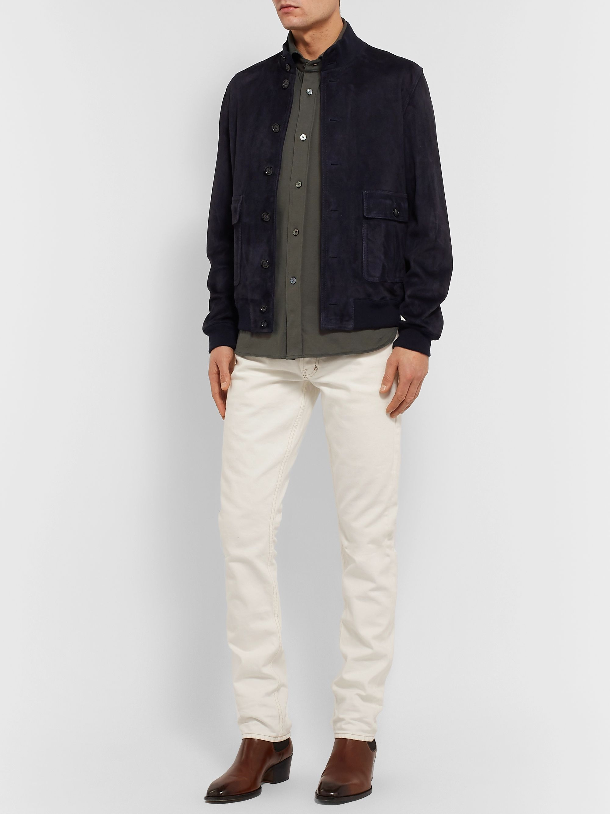 TOM FORD Slim-Fit Cotton-Jersey Shirt