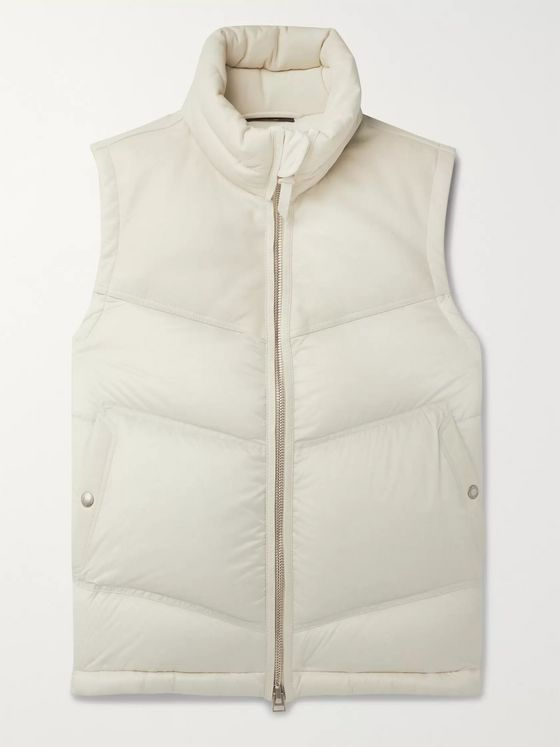 TOM FORD Quilted Leather and Shell Down Gilet