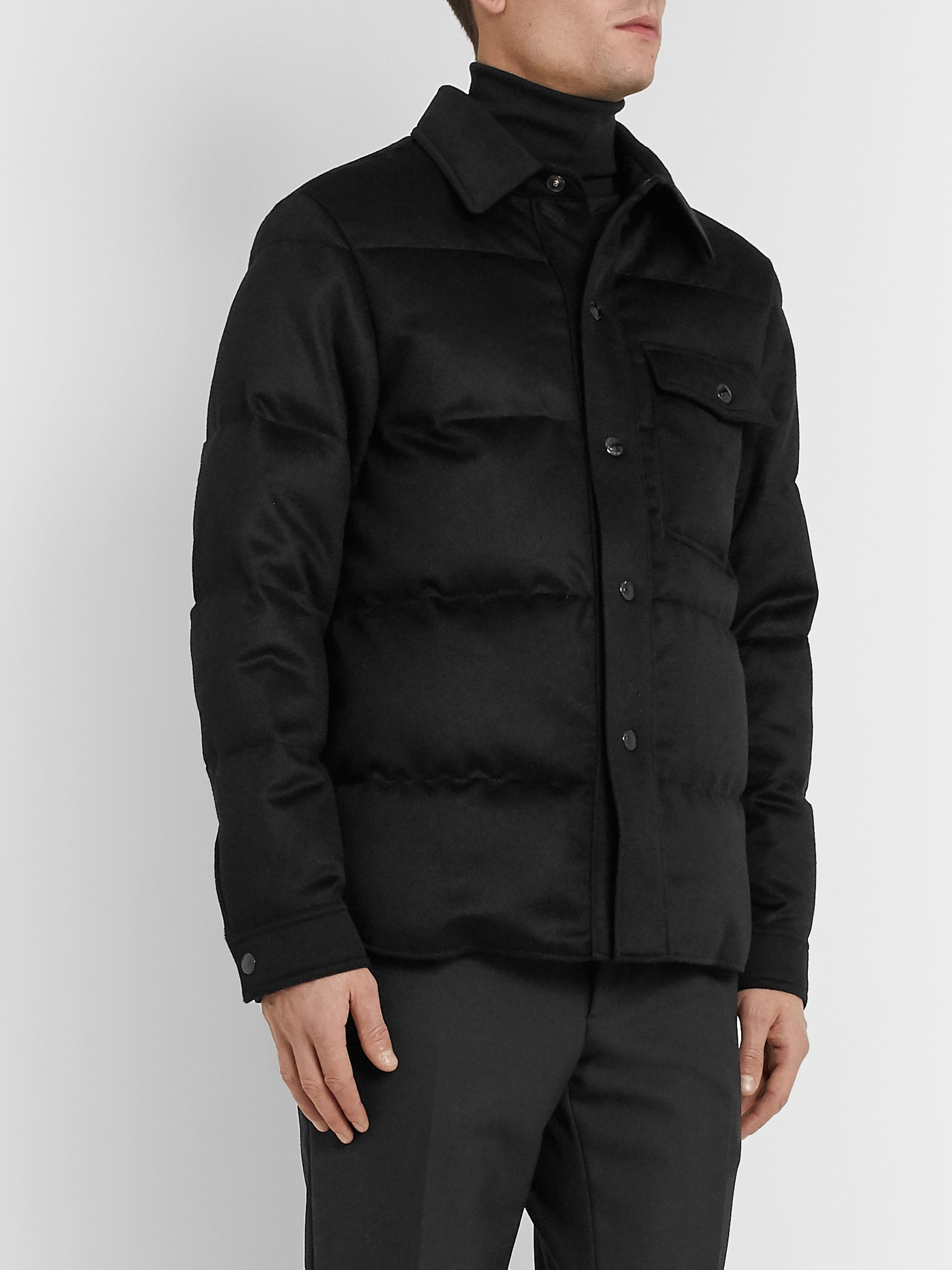 TOM FORD Slim-Fit Quilted Cashmere Jacket