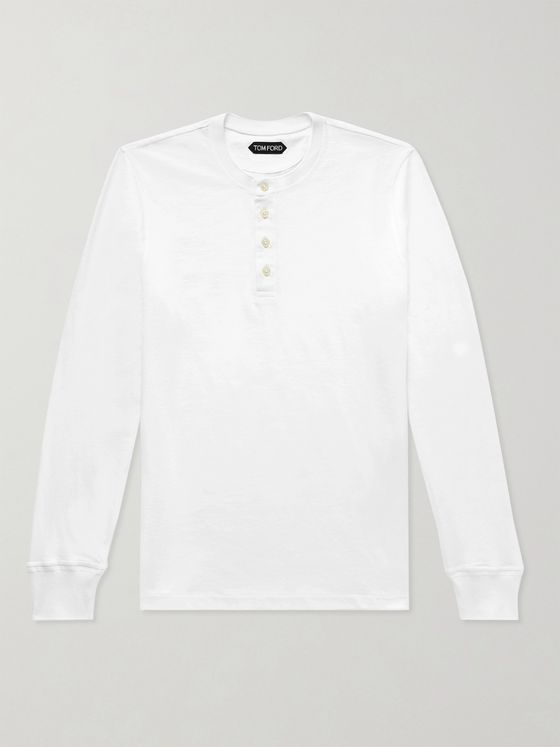TOM FORD Slim-Fit Cotton-Jersey Henley T-Shirt