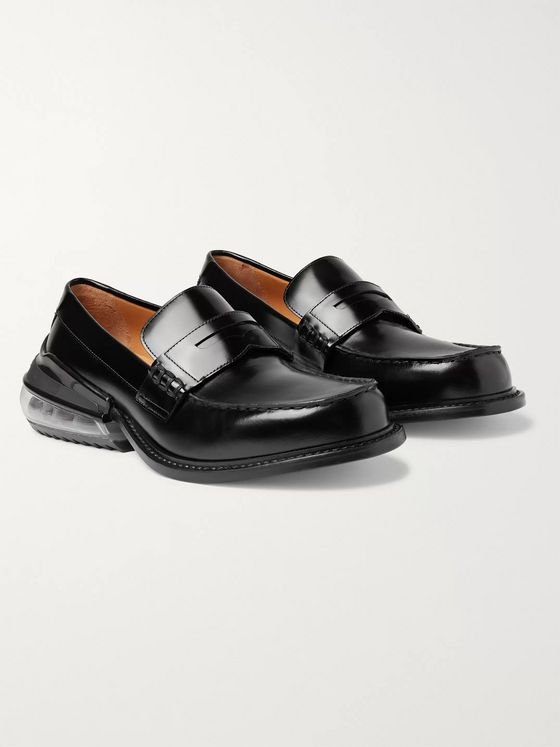 Maison Margiela Polished-Leather Penny Loafers