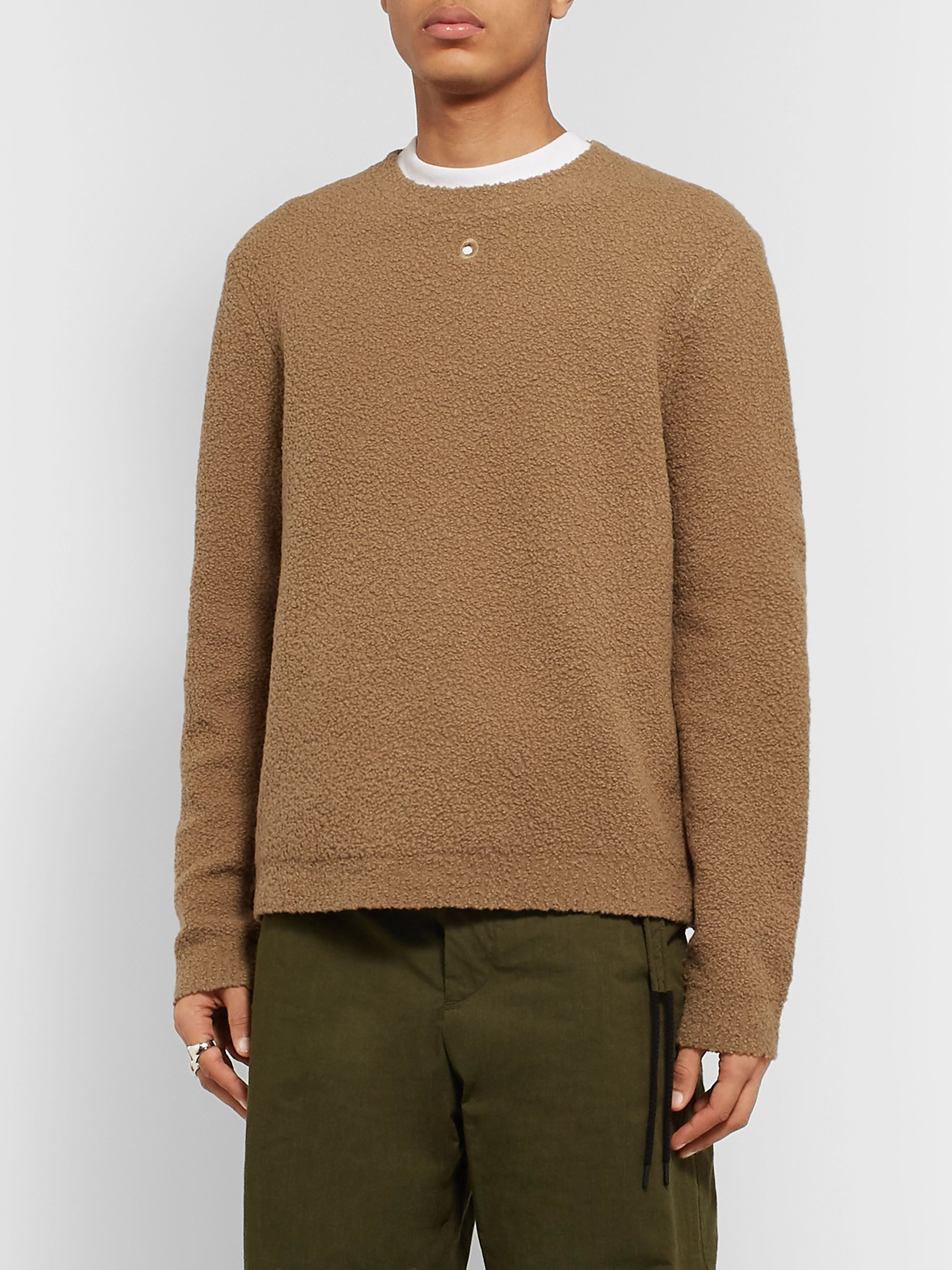 Craig Green Embroidered Wool-Blend Bouclé Sweater