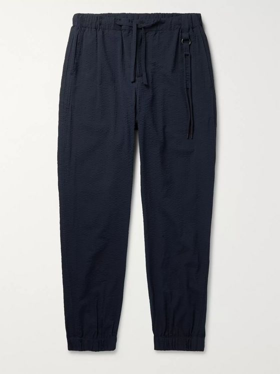 Craig Green Tapered Cotton-Seersucker Drawstring Trousers