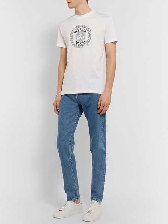 Versace Finn Logo-Embroidered Jeans