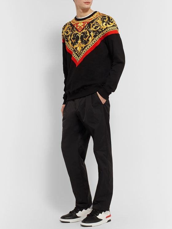 Versace Printed Loopback Cotton-Jersey Sweatshirt