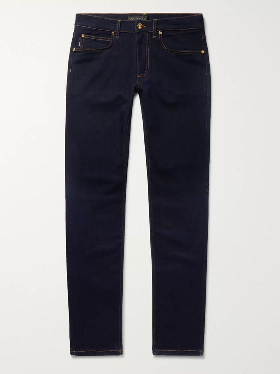 Versace Skinny-Fit Stretch-Denim Jeans