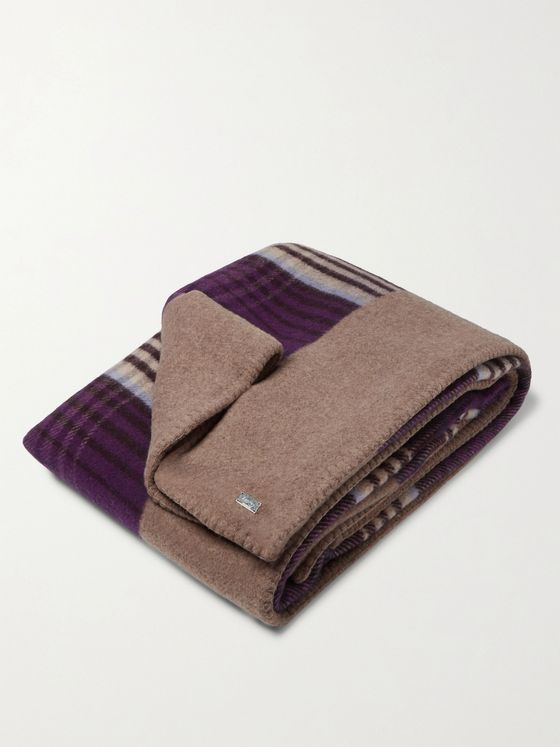 Asprey Reversible Checked Wool Blanket
