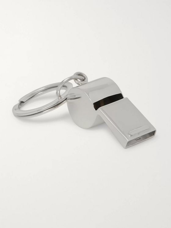 Asprey Sterling Silver Whistle Key Fob
