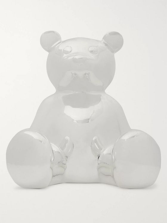 Asprey Teddy Bear Sterling Silver Money Box
