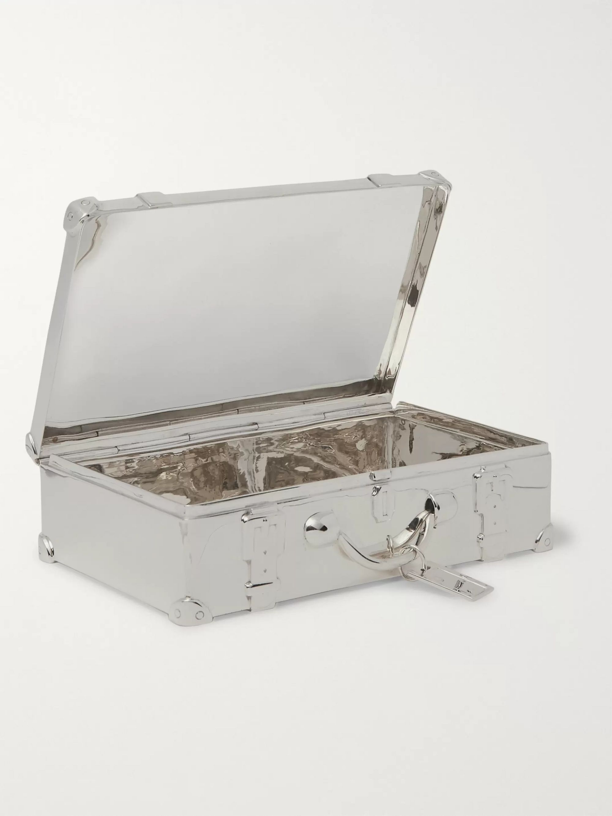 Asprey Suitcase Sterling Silver Trinket Box