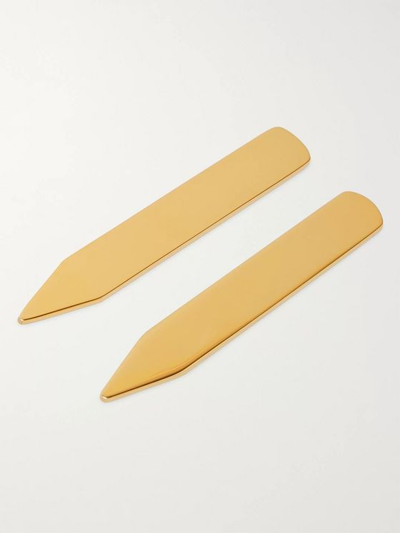 Asprey Gold-Gilded Collar Stays