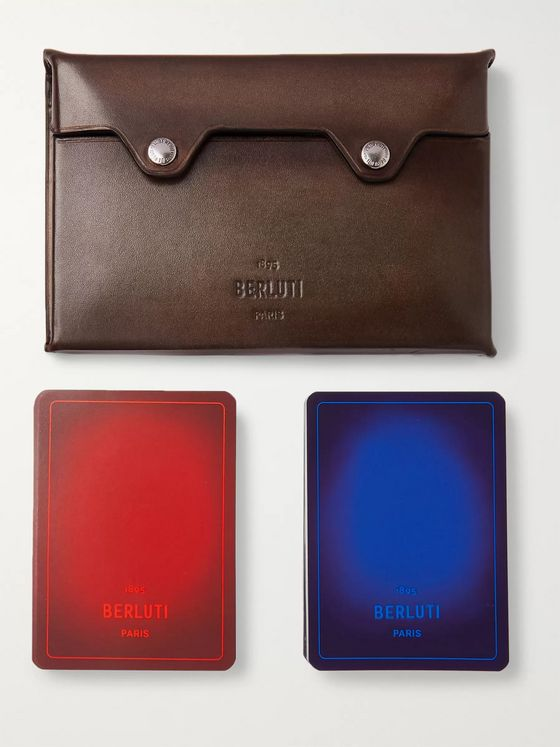 Berluti Venezia Leather Playing Cards Set