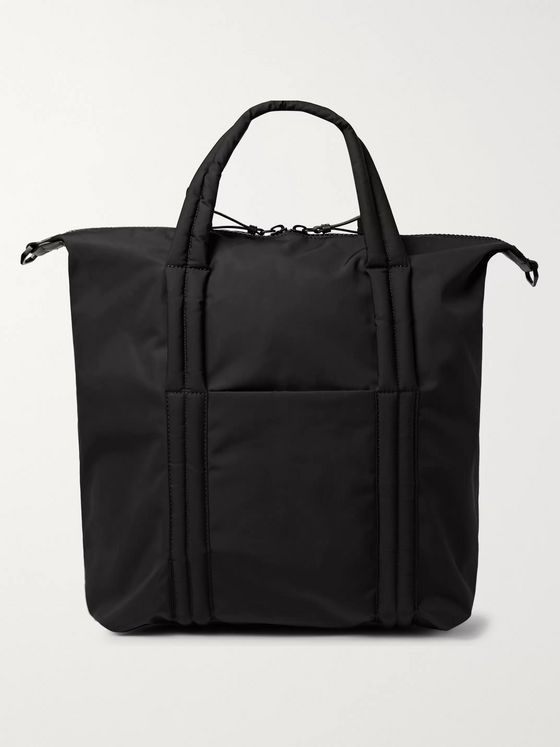Maison Margiela Leather-Trimmed Nylon Tote Bag