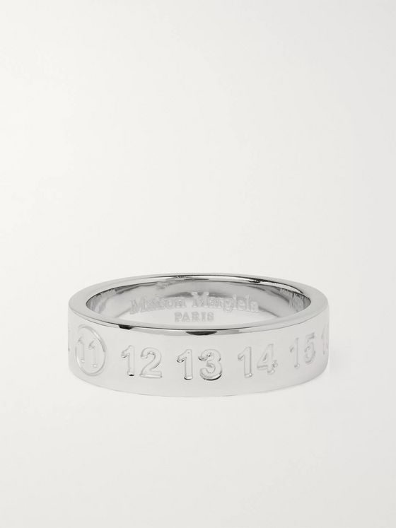 Maison Margiela Engraved Sterling Silver Ring