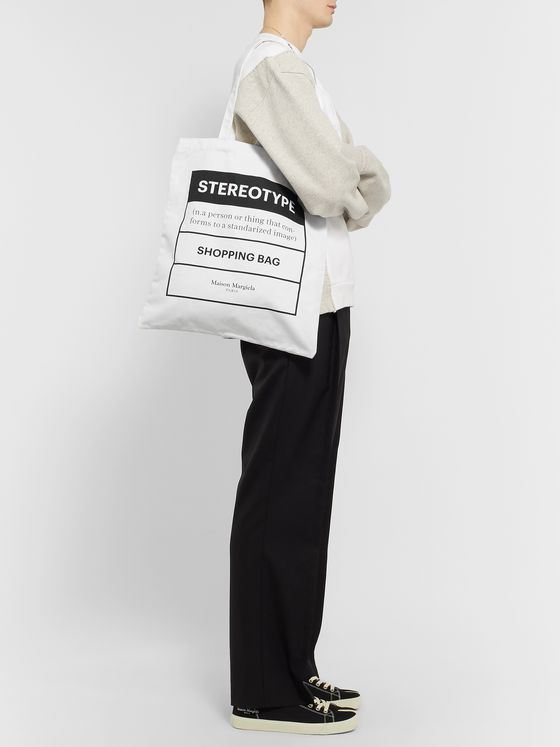 Maison Margiela Printed Cotton-Twill Tote Bag