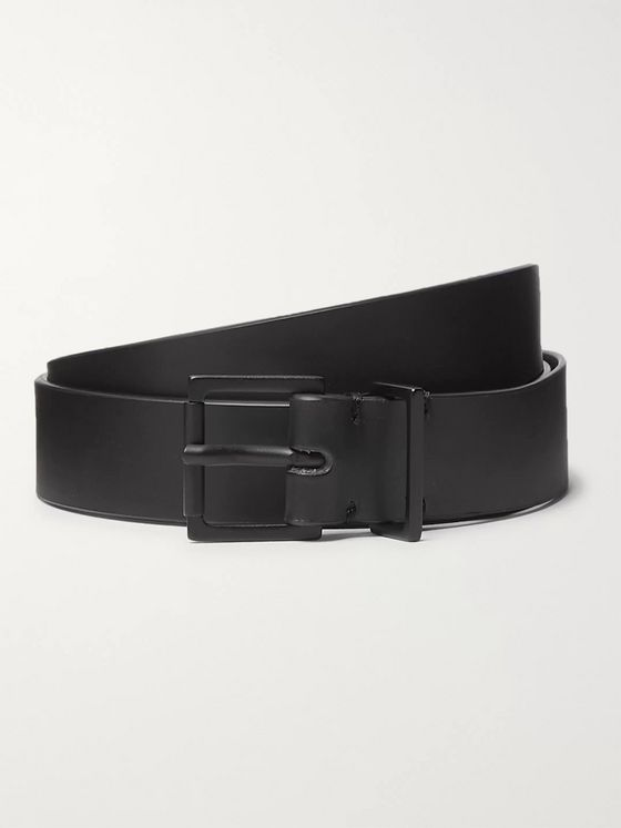 Maison Margiela 2.5cm Black Leather Belt