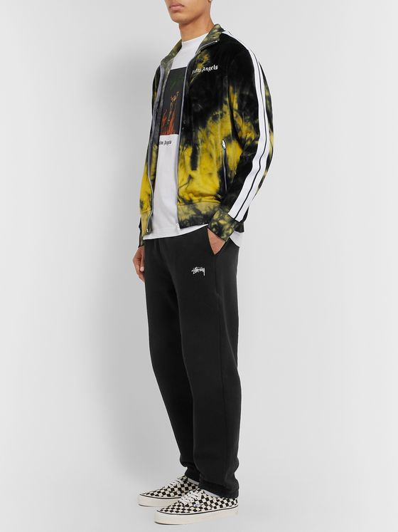 Palm Angels Striped Tie-Dyed Cotton-Blend Velour Track Jacket